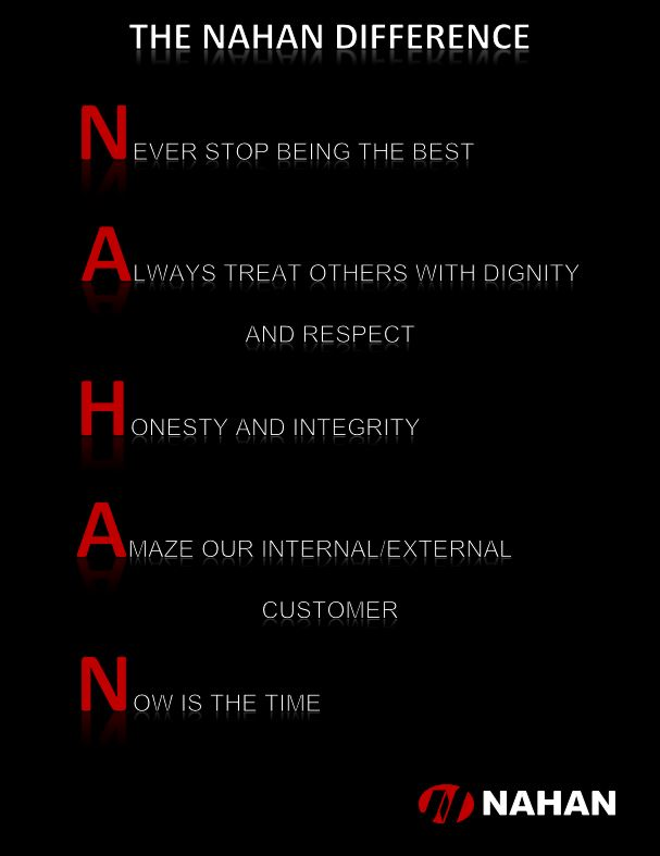 Nahan Values